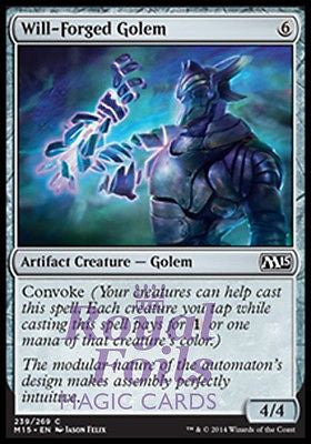 **4x FOIL Will-Forged Golem** MTG M15 Core Set Common MINT artifact