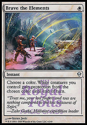 **1x FOIL Brave the Elements** ZEN MTG Zendikar Uncommon MINT white