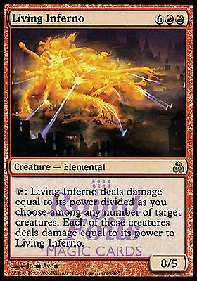 **1x FOIL Living Inferno** GPT MTG Guildpact Rare MINT red
