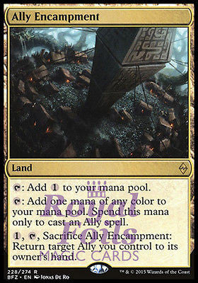 **1x FOIL Ally Encampment** BFZ MTG Battle for Zendikar Rare MINT land