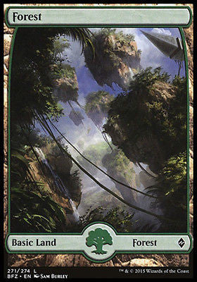 **1x FOIL Forest 271** BFZ MTG Battle for Zendikar Full Art Basic Land MINT green