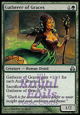**4x FOIL Gatherer of Graces* GPT MTG Guildpact Uncommon 3 MINT +1 NM green