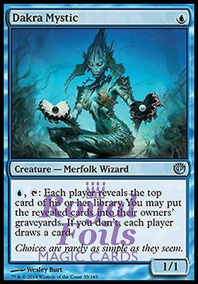 **1x FOIL Dakra Mystic** JOU MTG Journey Into Nyx Uncommon MINT blue