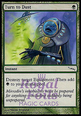 **4x FOIL Turn to Dust** MDN MTG Mirrodin Common MINT green