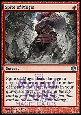 **2x FOIL Spite of Mogis** JOU MTG Journey Into Nyx Uncommon MINT red