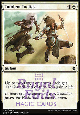 **4x FOIL Tandem Tactics** BFZ MTG Battle for Zendikar Common MINT white