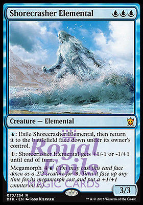 **1x FOIL Shorecrasher Elemental** DTK MTG Dragons of Tarkir Mythic MINT blue