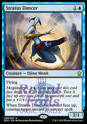 **1x FOIL Stratus Dancer** DTK MTG Dragons of Tarkir Rare MINT blue