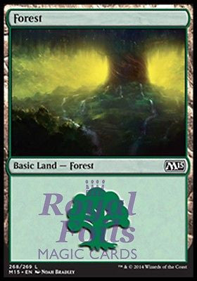 **1x FOIL Forest #268** MTG M15 Core Set Basic Land MINT green NB