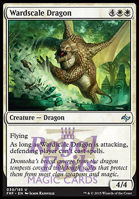 **2x FOIL Wardscale Dragon** FRF MTG Fate Reforged Uncommon MINT white