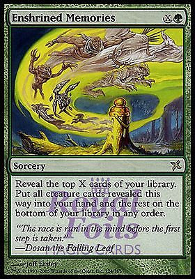 **1x FOIL Enshrined Memories* BOK MTG Betrayers Kamigawa Rare MINT green