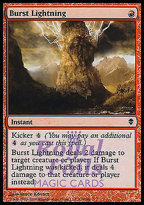 **1x FOIL Burst Lightning** ZEN MTG Zendikar Common MINT red