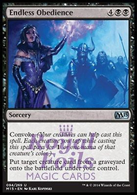 **2x FOIL Endless Obedience** MTG M15 Core Set Uncommon MINT black sorcery