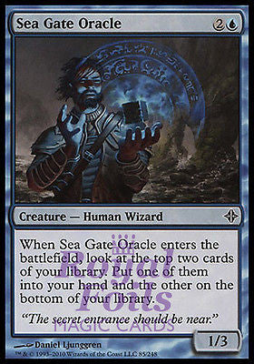 **1x FOIL Sea Gate Oracle* ROE MTG Rise of Eldrazi Common MINT blue