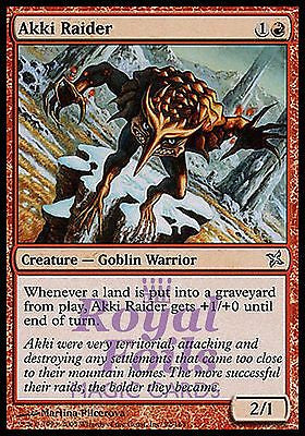 **3x FOIL Akki Raider** BOK MTG Betrayers Kamigawa Uncommon MINT red goblin warrior