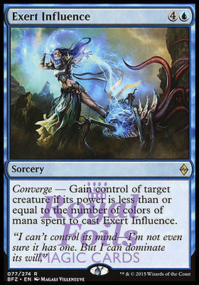 **1x FOIL Exert Influence** BFZ MTG Battle for Zendikar Rare MINT blue