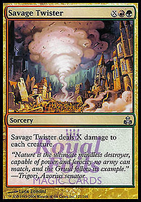 **2x FOIL Savage Twister** GPT MTG Guildpact Uncommon MINT red green