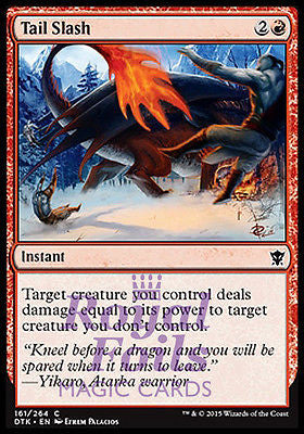 **4x FOIL Tail Slash** DTK MTG Dragons of Tarkir Common MINT red