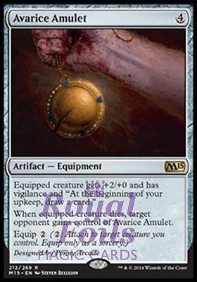 **2x FOIL Avarice Amulet** MTG M15 Core Set Rare MINT artifact equipment