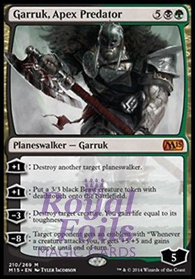 **1x FOIL Garruk Apex Predator** MTG M15 Core Set Mythic MINT black green