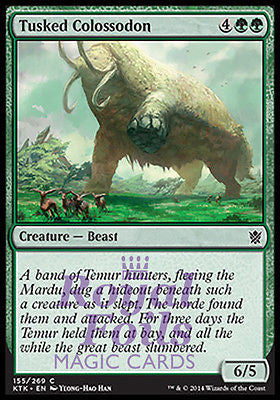 **4x FOIL Tusked Colossodon** MTG KTK Khans of Tarkir Common MINT green