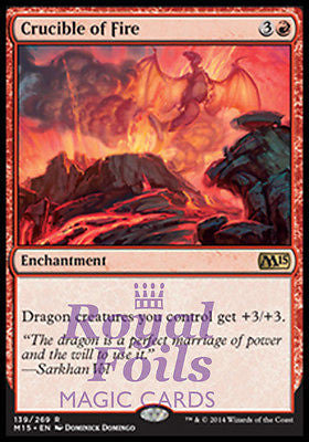 **1x FOIL Crucible of Fire** MTG M15 Core Set Rare MINT red