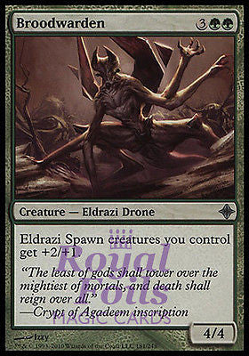**2x FOIL Broodwarden** ROE MTG Rise of Eldrazi Uncommon MINT green