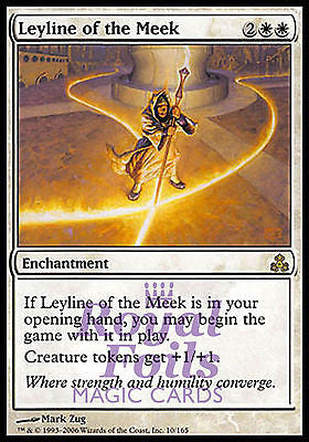 **1x FOIL Leyline of the Meek** GPT MTG Guildpact Rare MINT white