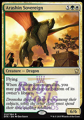 **2x FOIL Arashin Sovereign DTK MTG Dragons of Tarkir Rare MINT green white