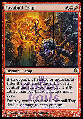 **1x FOIL Lavaball Trap** ZEN MTG Zendikar Rare MINT red