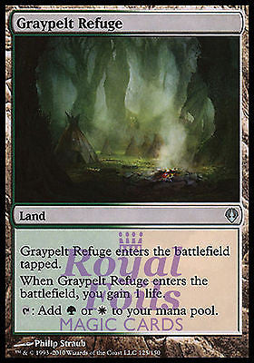 **1x FOIL Graypelt Refuge** ZEN MTG Zendikar Uncommon MINT green white land