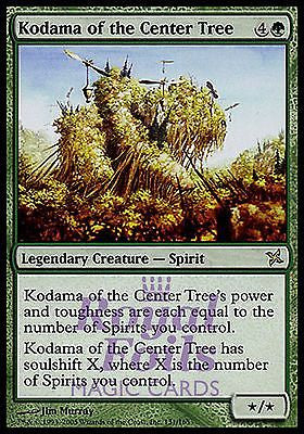 **1x FOIL Kodama of the Center Tree BOK MTG Betrayers Kamigawa Rare MINT green
