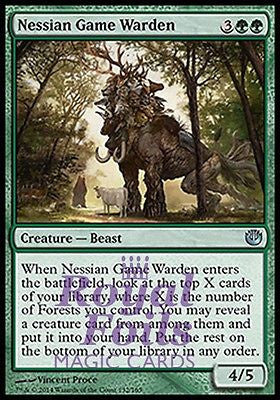 **2x FOIL Nessian Game Warden** JOU MTG Journey Into Nyx Uncommon MINT green