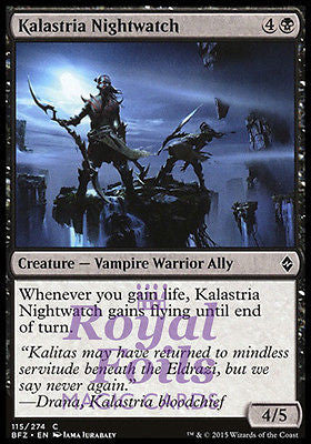 **4x FOIL Kalastria Nightwatch* BFZ MTG Battle for Zendikar Common MINT black