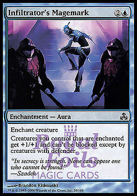 **4x FOIL Infiltrator's Magemark** GPT MTG Guildpact Common 3 MT +1 NM blue