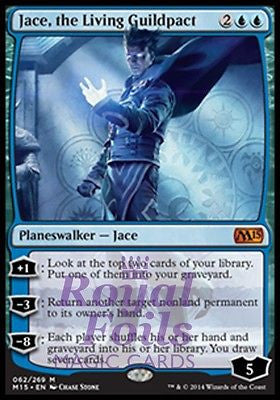 **1x FOIL Jace the Living Guildpact MTG M15 Core Set Mythic MINT blue