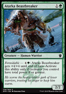 **4x FOIL Atarka Beastbreaker* DTK MTG Dragons of Tarkir Common MINT green