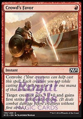 **4x FOIL Crowd's Favor** MTG M15 Core Set Common MINT red instant