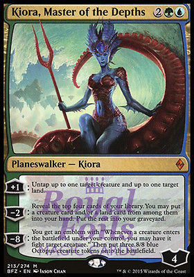 **1x FOIL Kiora, Master of the Depths** BFZ MTG Battle for Zendikar Mythic MINT