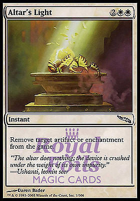 **5x FOIL Altar's Light** MDN MTG Mirrodin Uncommon 1 MINT + 4 NM- white