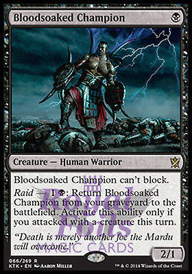 **1x FOIL Bloodsoaked Champion** MTG KTK Khans of Tarkir Rare MINT black