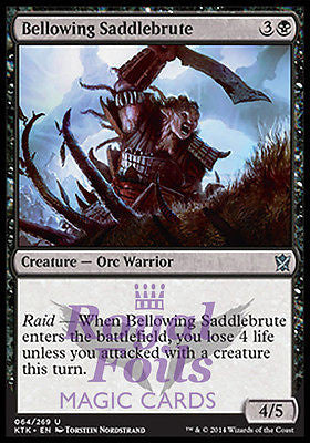 **4x FOIL Bellowing Saddlebrute** MTG KTK Khans of Tarkir Uncommon MINT black