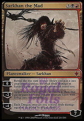 **1x FOIL Sarkhan the Mad** ROE MTG Rise of Eldrazi Mythic MINT black red