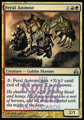 **4x FOIL Feral Animist GPT MTG Guildpact Uncommon 3 MINT +1 VF red green