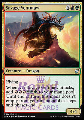 **1x FOIL Savage Ventmaw* DTK MTG Dragons of Tarkir Uncommon MINT red green