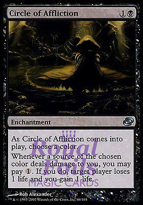 **3x FOIL Circle of Affliction PLC MTG Planar Chaos Uncommon 2 MT + 1 NM black