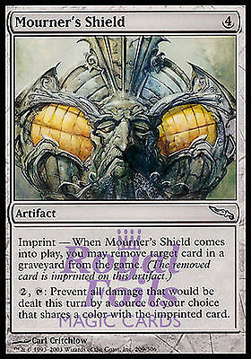 **3x FOIL Mourner's Shield** MDN MTG Mirrodin Uncommon MINT artifact