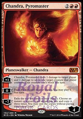**1x FOIL Chandra, Pyromaster** MTG M15 Core Set Mythic MINT red planeswalker