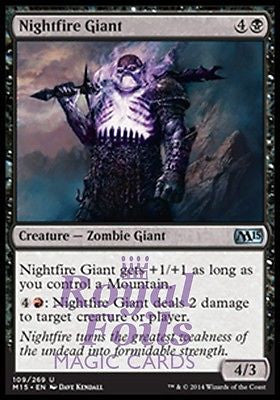 **4x FOIL Nightfire Giant** MTG M15 Core Set Uncommon MINT black red zombie