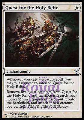 **2x FOIL Quest for the Holy Relic ZEN MTG Zendikar Uncommon MINT white